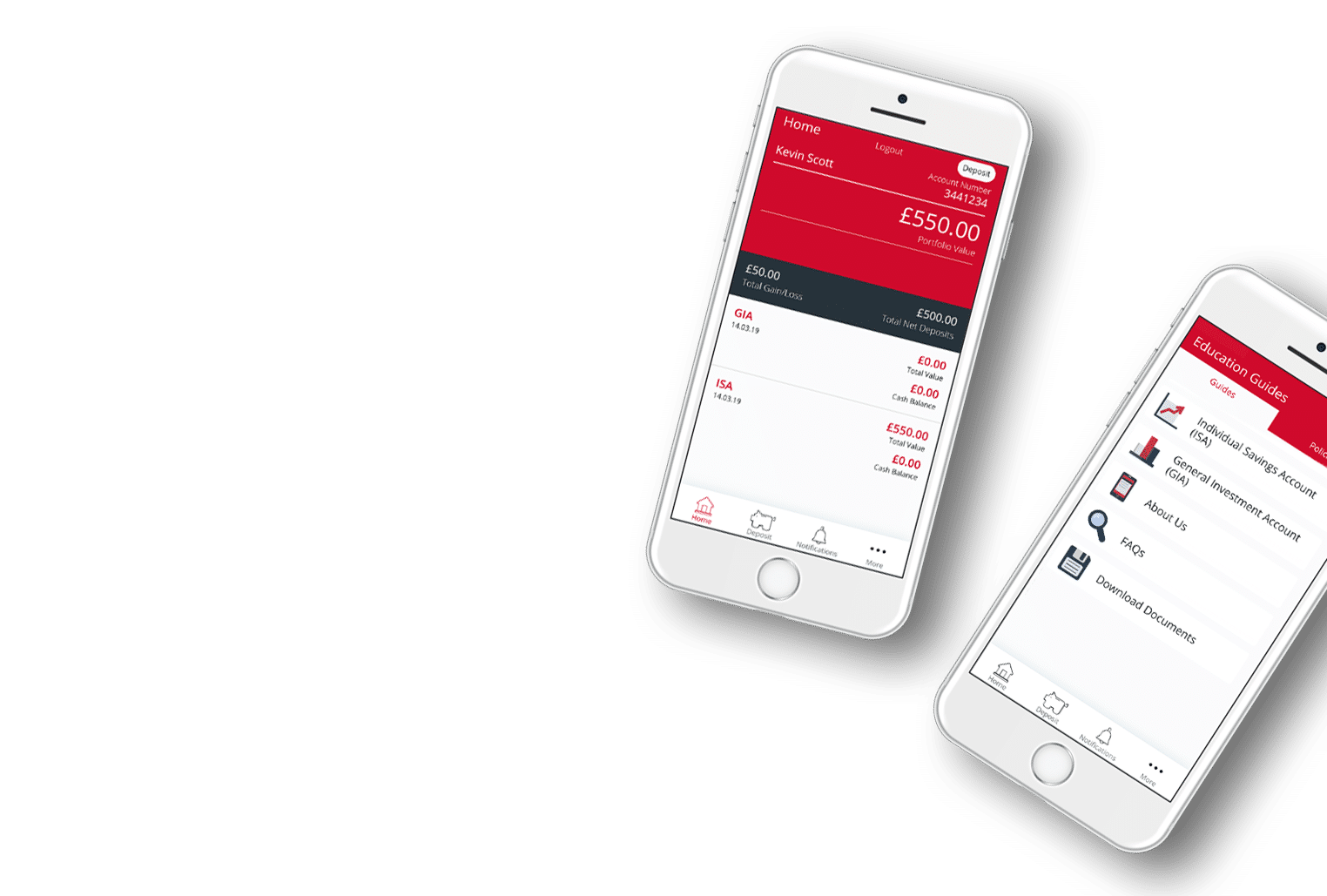 i-stock investing home screen